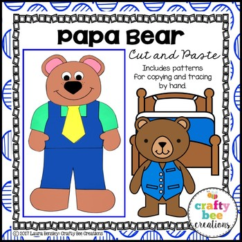 Papa Bear Cut and Paste