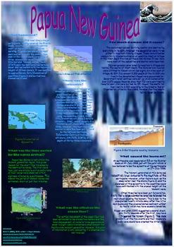 Papa New Guinea Tsunami Poster