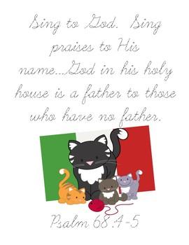 Papa Piccolo Bible Verse Printable (Psalm 68:4-5)