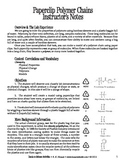 Paperclip Polymer Chains (Chemistry)