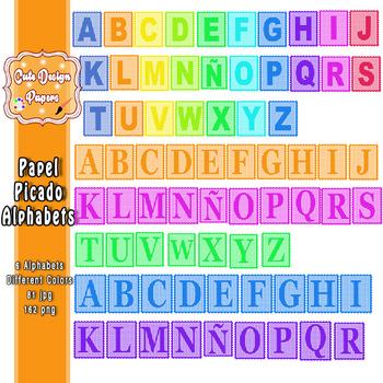 Papel Picado Alfabeto Clipart, Alfabeto Clip Art, Papel Picado Imprimible