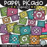 Papel Picado Clipart {Mexican banner clipart}