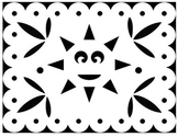 Papel Picado Coloring Sheets - for Cinco de Mayo and other Mexican Holidays