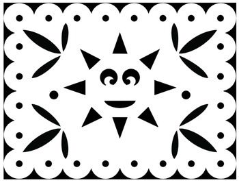 Papel Picado Coloring Sheets - for Cinco de Mayo and other Mexican ...
