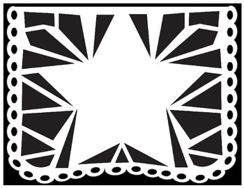 photograph about Papel Picado Templates Printable called Papel Picado Coloring Sheets - for Cinco de Mayo and other Mexican Vacations