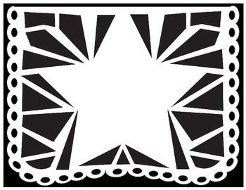 graphic regarding Papel Picado Template Printable called Papel Picado Coloring Sheets - for Cinco de Mayo and other Mexican Holiday seasons