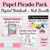 Digital Interactive Notebook Template Spanish Class | Pape