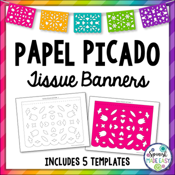 image about Papel Picado Templates Printable referred to as Papel Picado Tissue Banners