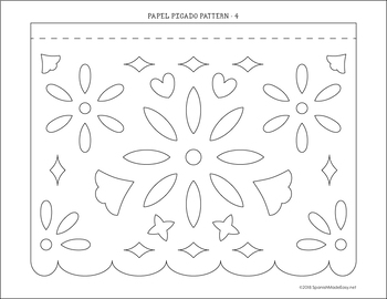 Juicy image regarding papel picado template printable