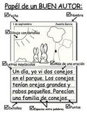 Papel de Un Buen Autor Graphic Organizer/Poster