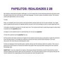 Papelitos Activity Game Realidades 2 2B Vocabulary Grammar Review