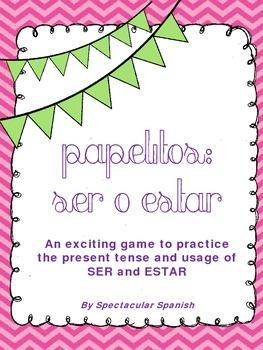 SER vs ESTAR Game: Grammar Practice
