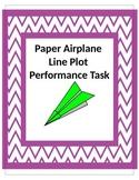 Paper Airplane 5th Grade Common Core 5.MD.2 Line Plot Perf
