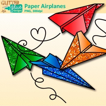 Paper Airplanes Clip Art | Back to School Graphics for Worksheets & Resources
