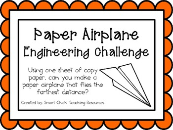 stem paper airplane challenge with record sheet pdf