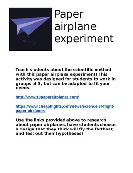 research about paper airplanes