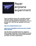Paper Airplane Experiment