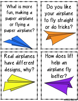 Paper Airplane Experiment and Writing Activities