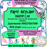 Paper Airplane INQUIRY LAB--3 Independent Variables for students to choose from!