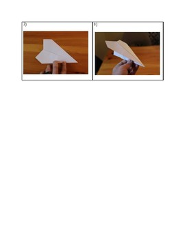 "Paper Airplane ""Instructional Text"" Hands-On Activity"