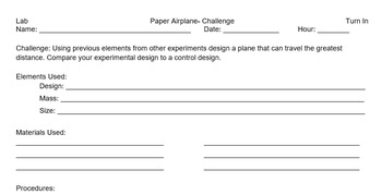 Paper Airplane Lab Collection