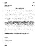 Paper Airplane Lab (flight engineering scientific method)