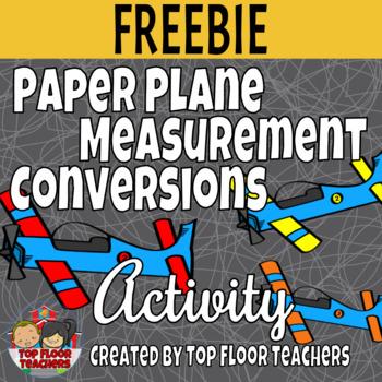 Paper Airplane Measurement Conversion Activity - Freebie!