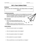 Paper Airplane Project - Scientific Method