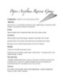 Paper Airplane Review Game