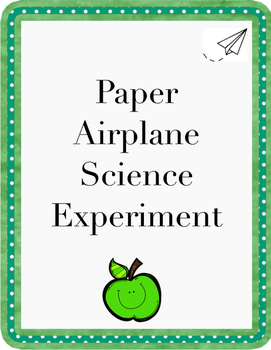 Paper Airplane Science Experiment