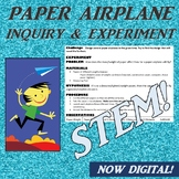 Paper Airplane Science STEM Inquiry Experiment/ Scientific Method introduction