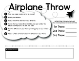 Paper Airplane Toss and Number Line