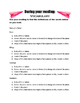 Paper Airplane v. Airplane Reading Worksheet