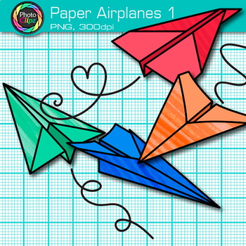 Paper Airplanes Clip Art {Back to School Graphics for STEM / STEAM Resources}