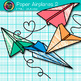 Paper Airplanes Clip Art {Back to School Graphics for Worksheets & Resources}