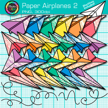Paper Airplanes Clip Art {Back to School Graphics for Work