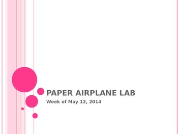 Paper Airplanes Lab Experiment