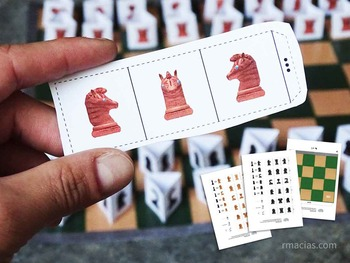 Paper Animals Chess Set for Kids (Free Printable Pieces and Chessboard)