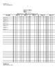 Paper Attendance Sheet