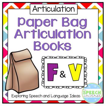Articulation Paper Bag Books: F and V