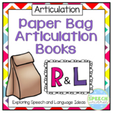 Paper Bag Articulation Books: R and L