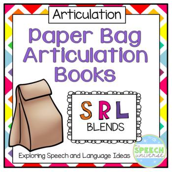 Paper Bag Articulation Books: S, R, L Blends