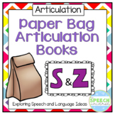 Paper Bag Articulation Books: S and Z