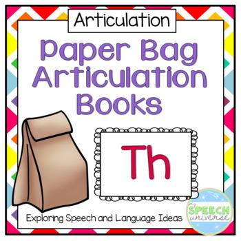 Paper Bag Articulation Books: Th