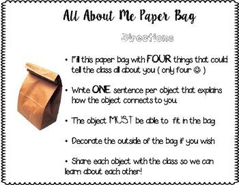 Paper Bag Back to School Activity