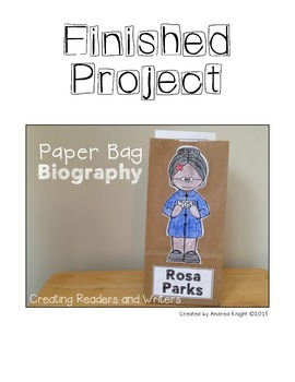 Paper Bag Biography:  Rosa Parks  (A  Project for Grades 1-2)