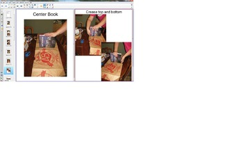 Paper Bag Book Cover Steps in Notebook