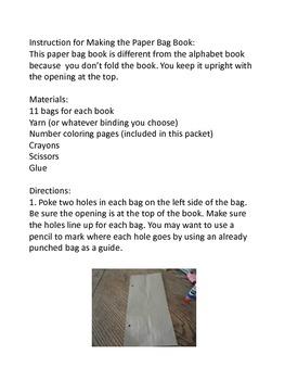 Paper Bag Book Numbers 1-20