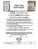 Paper Bag Book Report