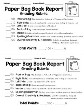 Paper Bag Book Report: Decorate a Paper Bag Based on a Fiction Book!
